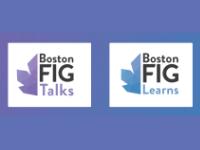 BostonFIG Talks/Learns Logo
